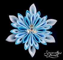 Ice Princess Kanzashi by SincerelyLove
