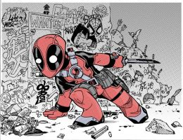 Lil DeadPool by lroyburch