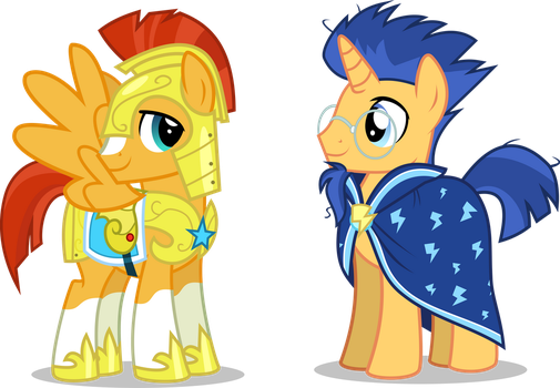 [AU] Sunburst and Flash Sentry by LimeDazzle