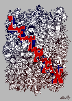 Doodle Art: Letran Invade by LeiMelendres