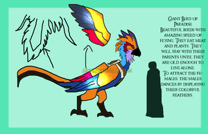 Xedralkana: Bird of Paradise Mount Reference by Asoq