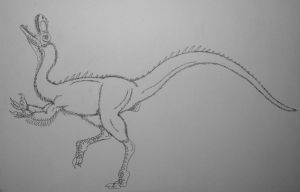 Dilong Paradoxus Ink by Raptor-Chick