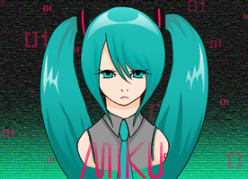 Miku Poster by TheMadHattersMistres