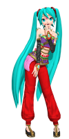 Dreamy Theater Extend: Arabian Miku by Tuni-kun