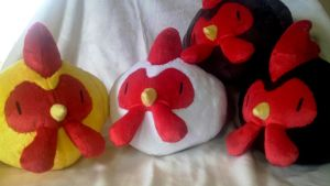 Harvest Moon Chicken Family by Plush-Drops