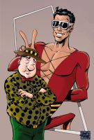 Plastic Man and Woozy by RougeDK