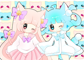 Kitty And Pipo by PuffyPrincess