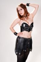 Leather Bra Top and Skirt by Swordstern