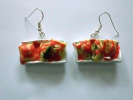 Ravioli Earrings by UneGlaceRose