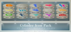 Cylinder Social Network Icon. Pack no.1 by demeters