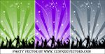 Dance Party Vector by 123freevectors