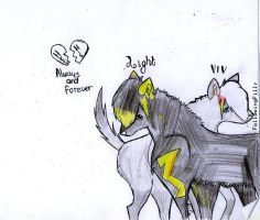 Wolfs, Mate forever. by FollowingFilly