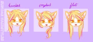 SUNDAE hairstyles by thekitty