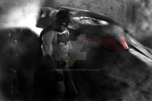 Batman and Batmobile by KanomBRAVO