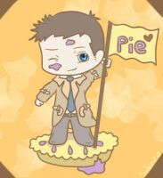 Castiel needs pie! by Sabinzie