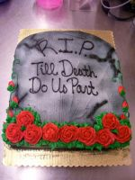 Tombstone Bridal Shower Cake by zoro-swordsman