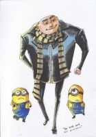 Gru and his minions by ChanChili