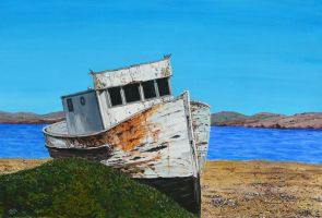 Abandoned boat 2 by Lord-Makro