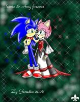 Sonic and Amy by Genetta-TO