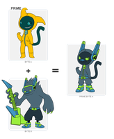 BYTE FUSION  Moonmon+Subwoof by Meeshi