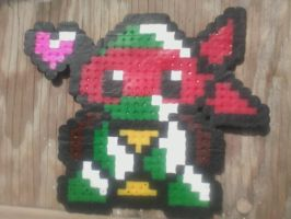 Chibi Raph-Perler Beads by HopeDiamond101
