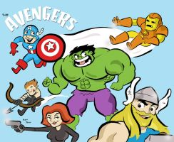 The Avengers! by JamieCosley