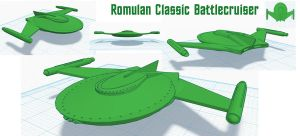 Romulan Classic Battle Cruiser by TonyGCampagna