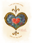Zelda: Heart Container Love Note by abitfrank