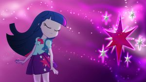 Equestria Girls Twilight Sparkle Wallpaper by Mr-Kennedy92