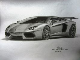 My Lamborghini Aventador Graphite Drawing. by VinJiro