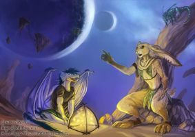 The night deserts of Pandora by J-C
