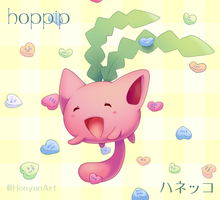 Hoppip and Heart Candy by Yajuuu
