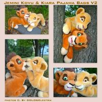 Jemini Kovu And Kiara Pajama Bags Version 2 by DoloAndElectrik