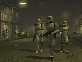 Stormtrooper Patrol by shannor