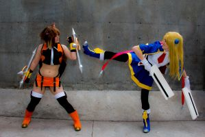 Noel and Makoto @ Otakuthon 2014 - 9 - Kick! by simakai
