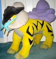 A Wild Giant Raikou Plush Appeared by MizukiiMoon