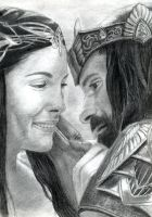 Aragorn and Arwen by AinuLaire