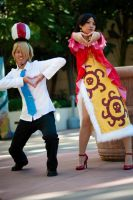 Pose of Love + Mero Mero no Mi by SoySauceCosplay