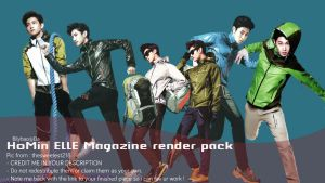 HoMin ELLE magazine  render pack by BiLyBao