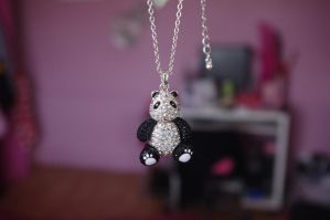Panda Necklace by LucyLostInWonderland