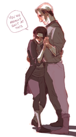 old men yaoi slow dancing by clockwork-moon