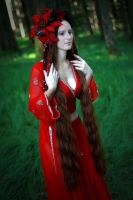 STOCK red haired woman gothic VIIII by MyladyTane
