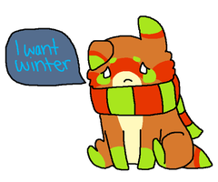 Pouty Izzy wants Winter. by ChammiBee
