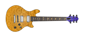SunyLight VI fictitious electric guitar by Thunderoad-Shyra