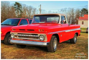 A Cool Red Chevy Truck by TheMan268