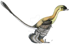 Paleo-Colours: Sinornithosaurus by PaleoAeolos