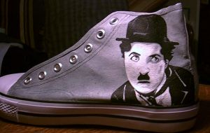 COMMISSION: charlie chaplin shoe 1 by amythystelle