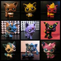 Eeveelution LPS customs by pia-chu