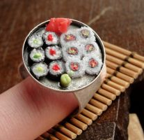 New Sushi Ring by fairchildart
