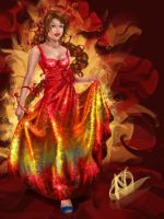 Katniss: Radiant as the Sun by MirRoriel